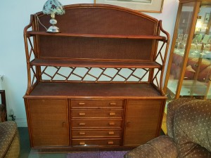 Large wicker display unit